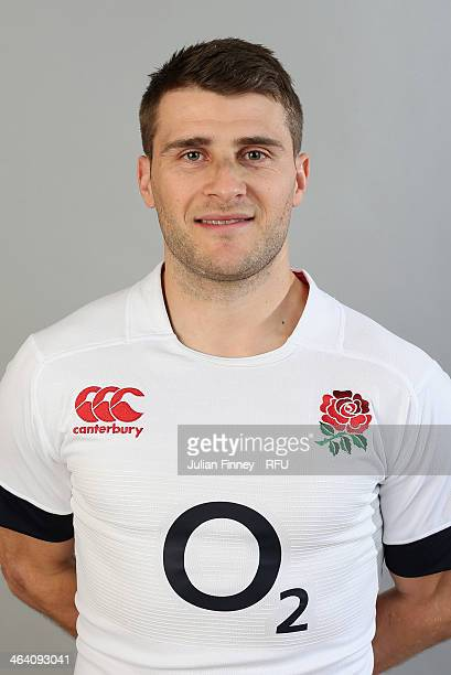 Richard Wigglesworth of England poses for a portrait during the England Six Nations Squad Photo Call at the Penny Hill Hotel on January 20 2014 in...