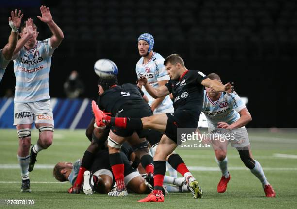 Richard Wigglesworth of Saracens during the Heineken Champions Cup Semi Final match between Racing 92 and Saracens at Paris La Defense Arena on...