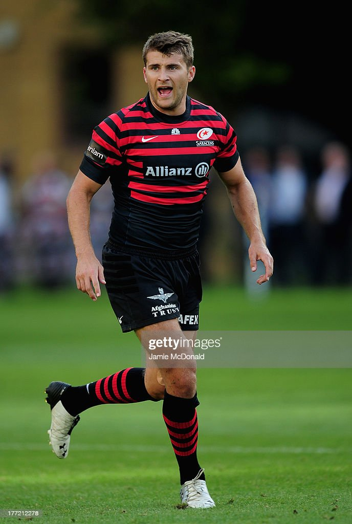 Richard Wigglesworth of Saracens in action during the pre season friendly match between Saracens and Cornish Pirates at Honourable Artillery Company on August 22, 2013 in London, England.