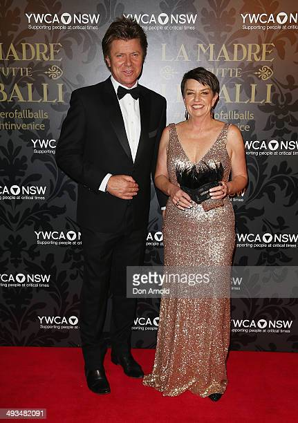 Richard Wilkins and Anna Bligh arrives at the YMCA Mother of All Balls at Sydney Town Hall on May 24 2014 in Sydney Australia