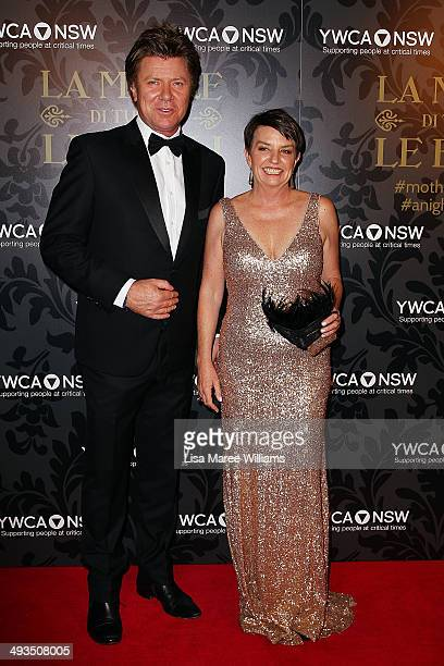 Richard Wilkins and Anna Bligh attend the YMCA Mother of All Balls at Town Hall on May 24 2014 in Sydney Australia