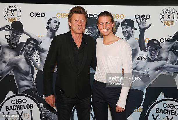 Richard Wilkins and Christian Wilkins arrive ahead of the 2015 Cleo Bachelor of the Year announcement on November 25, 2015 in Sydney, Australia.