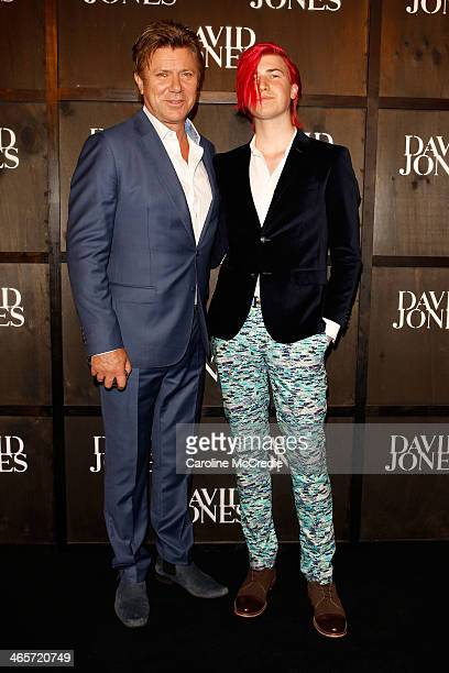Richard Wilkins and Christian Wilkins arrive at the David Jones A/W 2014 Collection Launch at the David Jones Elizabeth Street Store on January 29...