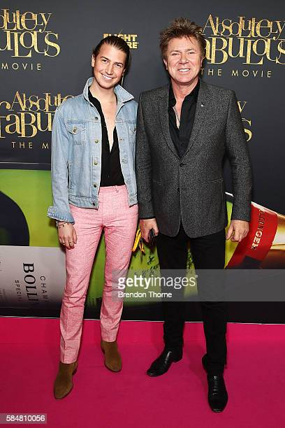 Richard Wilkins and Christian Wilkins arrives ahead of the Absolutely Fabulous The Movie Australian premiere at State Theatre on July 31 2016 in...