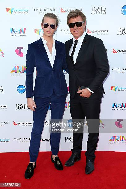 Richard Wilkins and Christian Wilkins arrives for the 29th Annual ARIA Awards 2015 at The Star on November 26, 2015 in Sydney, Australia.