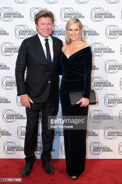 Richard Wilkins and Melissa Doyle from NOVA Entertainment attends the 31st Australian Commercial Radio Awards on October 19 2019 in Brisbane Australia