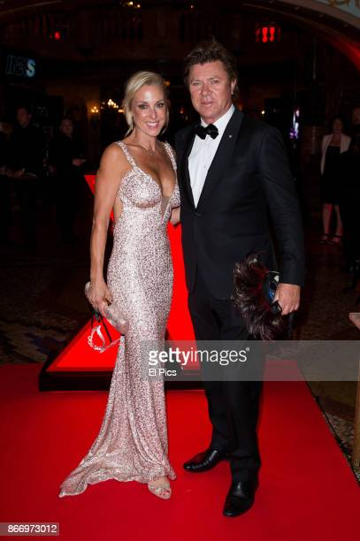 Richard Wilkins and new girlfriend Virginia Burmeister arrives ahead of the INXS Masquerade Party at State Theatre on October 26 2017 in Sydney...