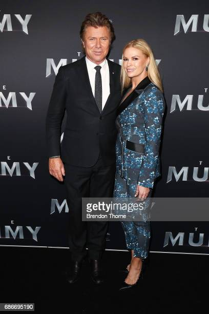 Richard Wilkins and Sonia Kruger arrive ahead of The Mummy Australian Premiere at State Theatre on May 22 2017 in Sydney Australia