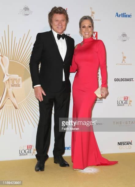 Richard Wilkins and Virgina Burmeister arrive at the 61st Annual TV WEEK Logie Awards at The Star Gold Coast on June 30 2019 on the Gold Coast...