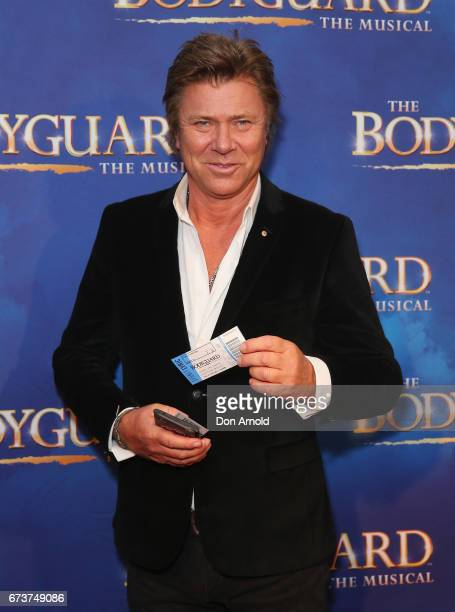 Richard Wilkins arrives ahead of opening night of The Bodyguard The Musical at Lyric Theatre Star City on April 27 2017 in Sydney Australia