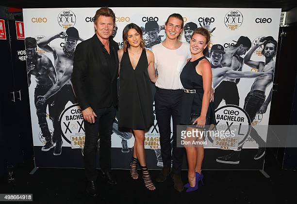 Richard Wilkins, Cara Wilson, Christian Wilkins and Embla Bishop arrive ahead of the 2015 Cleo Bachelor of the Year announcement on November 25, 2015...