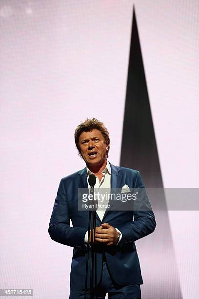 Richard Wilkins presents during the 27th Annual ARIA Awards 2013 at the Star on December 1 2013 in Sydney Australia