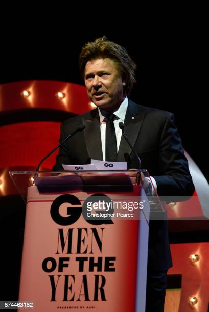 Richard Wilkins presents the award for International Icon during the GQ Men Of The Year Awards Ceremony at The Star on November 15 2017 in Sydney...