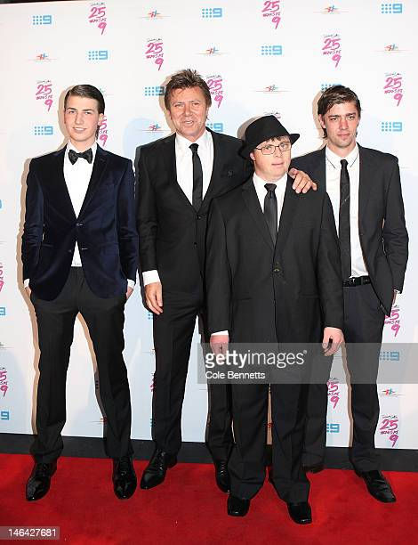 Richard Wilkins surrounded by his boys arrive at Richard Wilkins 25 Year Anniversary Fundraiser For Down Syndrome at Fox Studios on June 16 2012 in...