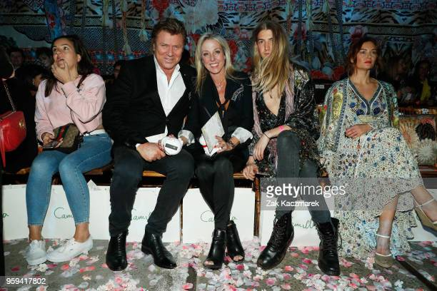 Richard Wilkins Virginia Burmeister and Christian Wilkins arrive ahead of the Camilla show at MercedesBenz Fashion Week Resort 19 Collections at...