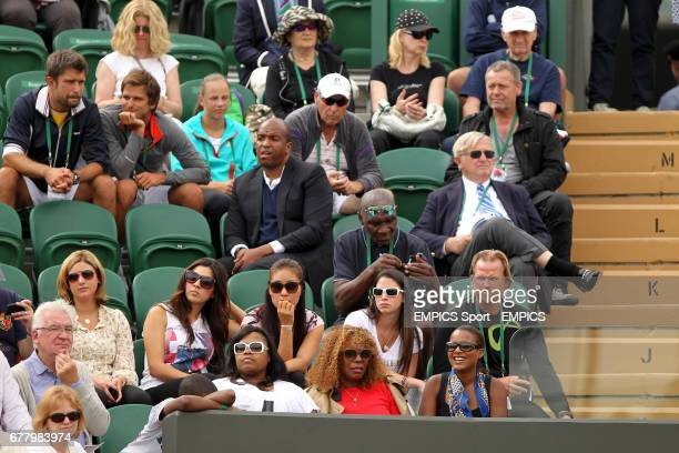 Richard Williams father and tennis coach of Venus Williams sat in the stands two rows behind her mother Oracene Williams