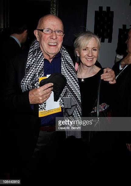 Richard Wilson and Liz Crowther attend the Onassis Press Night party at the Jewel Bar on October 12 2010 in LondonEngland