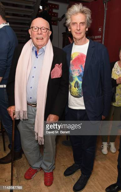 """Richard Wilson and Peter Capaldi attend the press night performance of """"The Last Temptation Of Boris Johnson"""" at The Park Theatre on May 13, 2019 in..."""