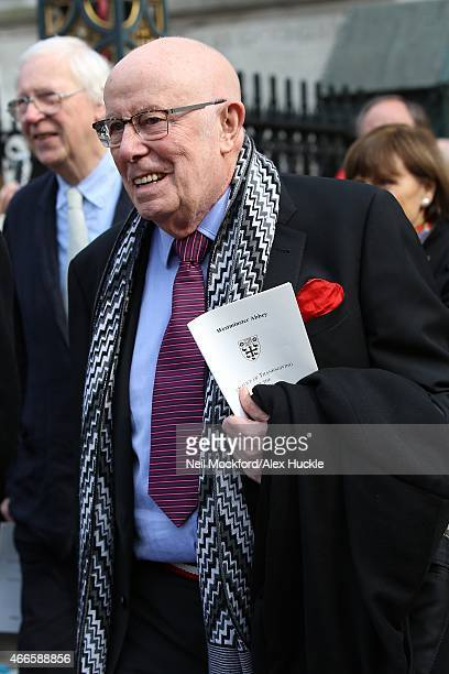 Richard Wilson attends a Memorial Service for Sir Richard Attenborough at Westminster Abbey on March 17 2015 in London England