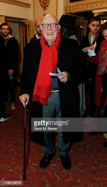 Richard Wilson attends the press night performance of 'Ian McKellen On Stage' a special one man show celebrating his 80th birthday at Duke Of York's...