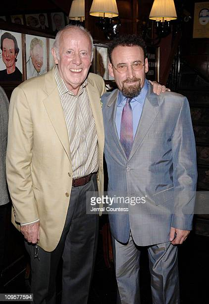 """Richard Wilson, director, and Sir Antony Sher during """"Primo"""" Broadway Opening Night - After Party at Sardi's in New York City, New York, United..."""