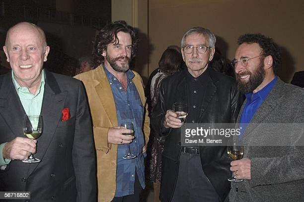 Richard Wilson, Greg Doran, Edward Albee and Anthony Sher attend the after party following the press night for 'Who's Afraid Of Virginia Woolf?,' at...