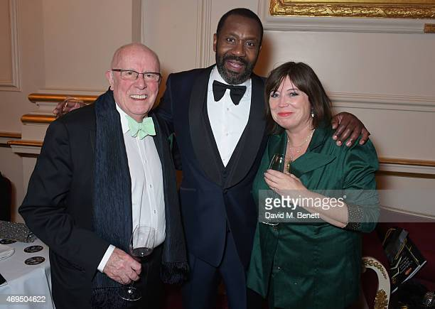Richard Wilson Lenny Henry and Lisa Makin attend The Olivier Awards after party at The Royal Opera House on April 12 2015 in London England