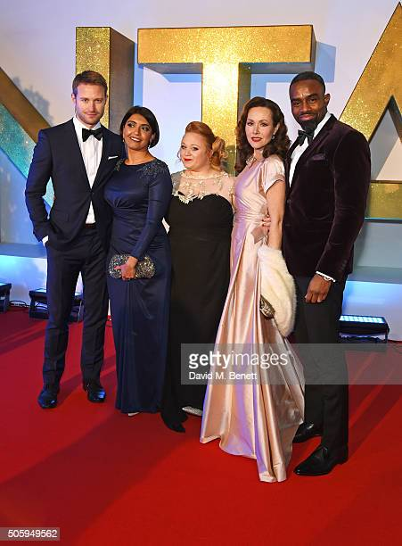 Richard Winsor Sunetra Sarker Amanda Henderson Amanda Mealing and Charles Venn attend the 21st National Television Awards at The O2 Arena on January...
