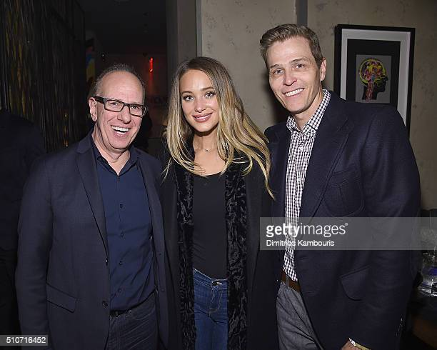 Richard Wolf Hannah Davis and Patrick Whitesell attend IMG Models Celebrates The Sports Illustrated Swimsuit issue at Vandal on February 15 2016 in...