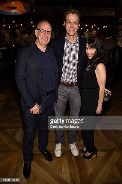 Richard Wolf Patrick Whitesell and Michelle Steinberg attend IMG Models Celebrates The Sports Illustrated Swimsuit issue at Vandal on February 15...