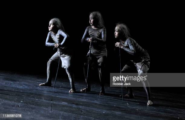 Richard WolfsonGuillermo FernandezAguayo Martin and Nao Fukui as The Three Boys in English National Opera's production of Wolfgang Amadeus Mozart's...