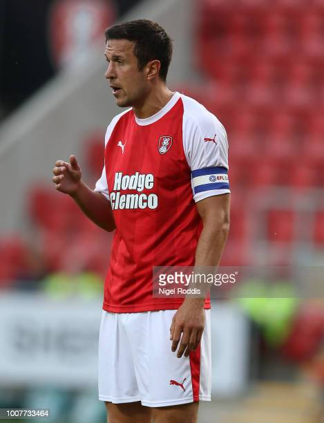 Richard Wood of Rotherham United during the at PreSeason Friendly match between Rotherham United and Cardiff City at The New York Stadium on July 25...