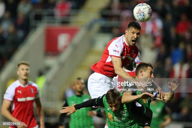 Richard Wood of Rotherham United during the Sky Bet League One Play Off Semi FinalSecond Leg between Rotherham United and Scunthorpe United at The...