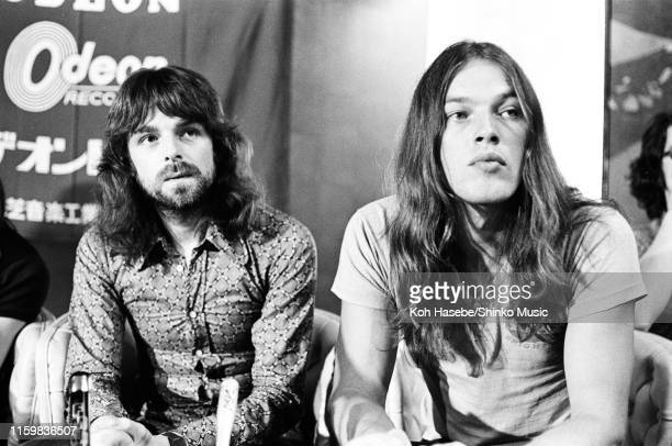 Richard Wright, David Gilmour of Pink Floyd at a press conference at Hakone Aphrodite, Tokyo, Japan, 2nd August 1971.