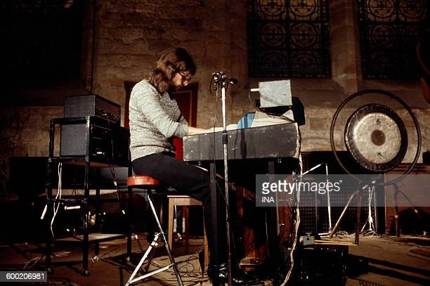 Richard Wright in the keyboard during a concert given by the PINK Floyd on June 16th 1971 to the abbey of Royaumont