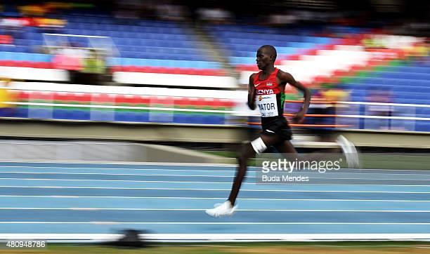 Richard Yator Kimunyan of Kenya in action during the round one of the Boys 3000 Meters on day two of the IAAF World Youth Championships Cali 2015 on...