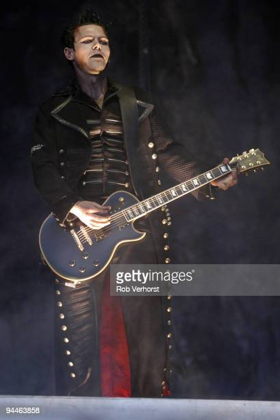 Richard Z Kruspe from Rammstein performs live on stage at The Fields of Rock Festival at Nijmegen Holland on June 18 2005