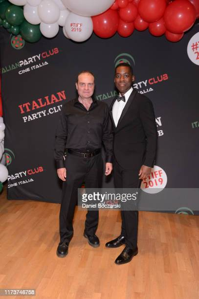 Richard Zeppieri and Jaze Bordeaux attend the Italian Party Club at TIFF 2019 at Artscape Daniels on September 10 2019 in Toronto Canada