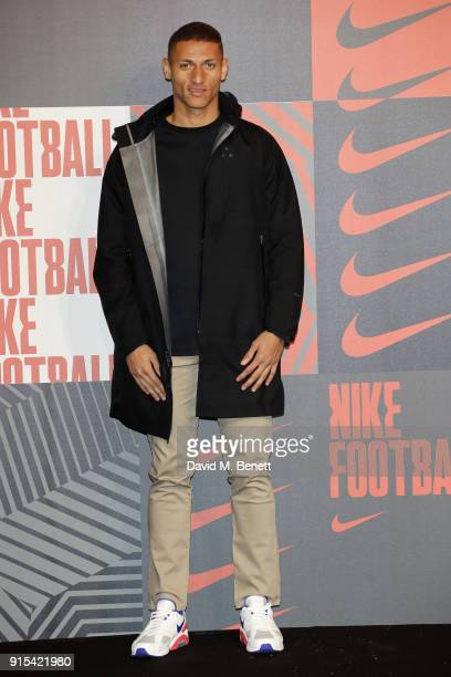 Richarlison de Andrade attends in celebration of the 20th anniversary of Nike's most iconic football boot some of the world's best footballers arrive...