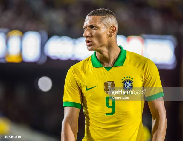 Richarlison of Brazil during the 2019 International Champions Cup at the Los Angeles Coliseum between Brazil and Peru on September 10 2019 in Los...