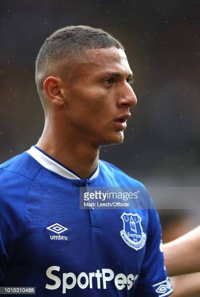 Richarlison of Everton during the Premier League match between Wolverhampton Wanderers and Everton FC at Molineux on August 11 2018 in Wolverhampton...