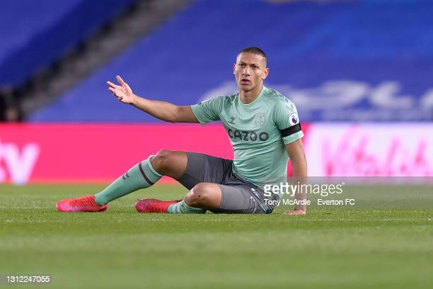 Richarlison of Everton during the Premier League match between Brighton and Hove Albion and Everton at the American Express Community Stadium on...