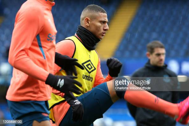 Richarlison of Everton during the Premier League match between Chelsea FC and Everton FC at Stamford Bridge on March 8 2020 in London United Kingdom