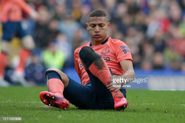Richarlison of Everton during the Premier League match between Chelsea FC and Everton FC at Stamford Bridge on March 08 2020 in London United Kingdom