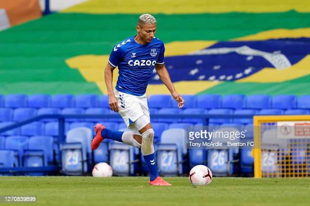 Richarlison of Everton during the PreSeason Friendly match between Everton and Preston North End at Goodison Park on September 5 2020 in Liverpool...
