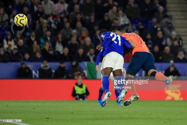 Richarlison of Everton scores a goal to make it 0-1 during the Premier League match between Leicester City and Everton FC at The King Power Stadium...
