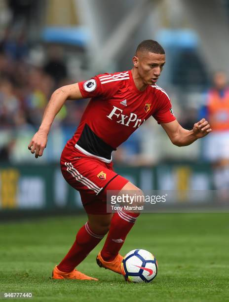Richarlison of Watford during the Premier League match between Huddersfield Town and Watford at John Smith's Stadium on April 14 2018 in Huddersfield...