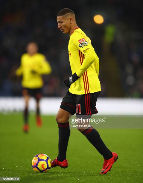 Richarlison of Watford in action during the Premier League match between Burnley and Watford at Turf Moor on December 9 2017 in Burnley England