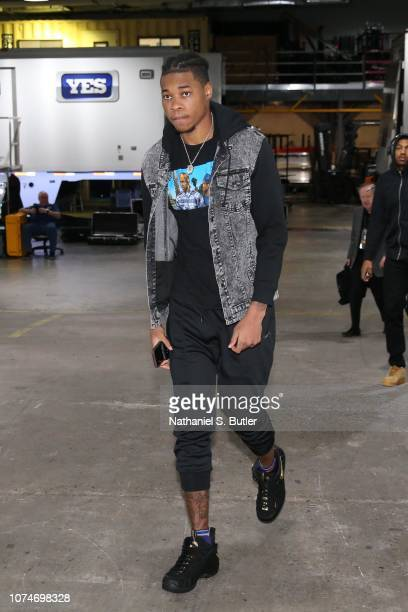 Richaun Holmes of the Phoenix Suns arrives prior to a game against the Brooklyn Nets on December 23 2018 at Barclays Center in Brooklyn New York NOTE...
