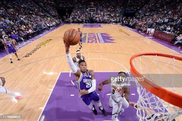 Richaun Holmes of the Sacramento Kings shoots the ball against the Denver Nuggets on October 28 2019 at Golden 1 Center in Sacramento California NOTE...